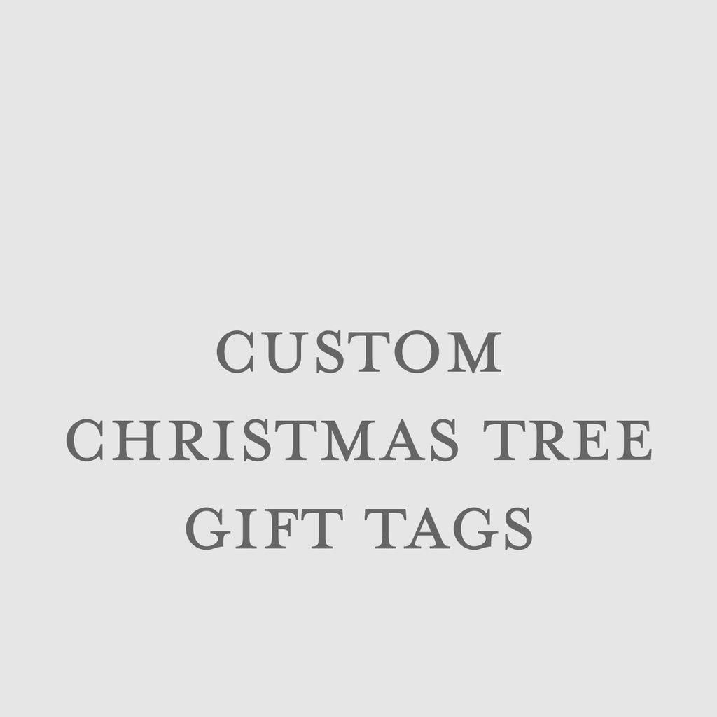 Custom Christmas Tree Tags
