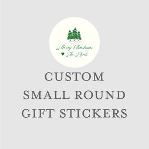 60 Custom Round Gift Labels