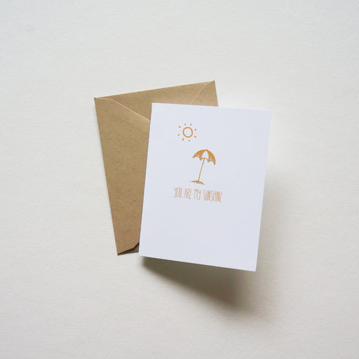 You are My Sunshine - shop greeting cards, handmade stationery, & wedding invitations by dodeline design