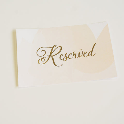Reserved Wedding Sign | Gold Foil - shop greeting cards, handmade stationery, & wedding invitations by dodeline design - 1