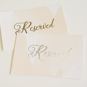 Reserved Wedding Sign | Gold Foil - shop greeting cards, handmade stationery, & wedding invitations by dodeline design - 2
