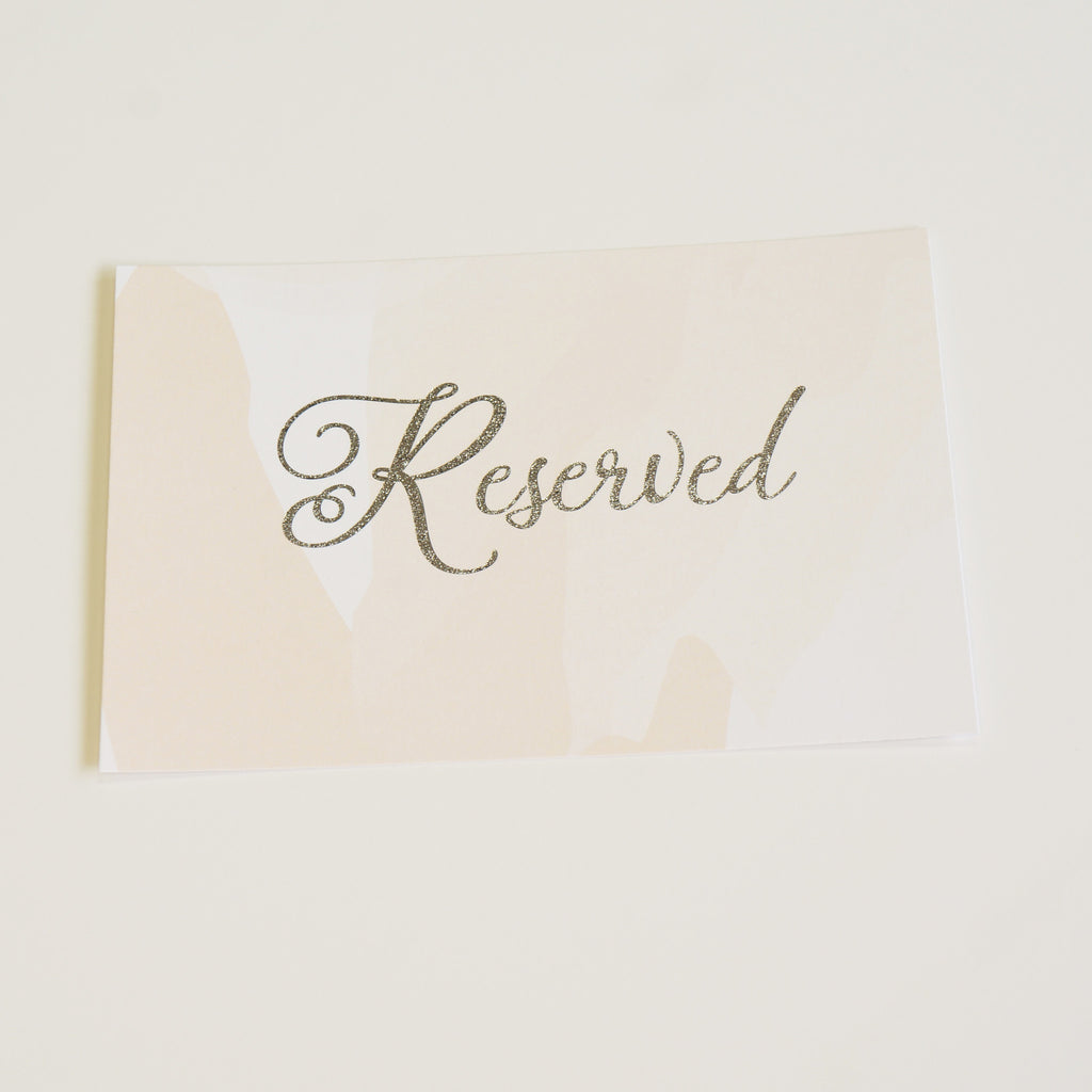 Reserved Wedding Sign | Silver Foil - shop greeting cards, handmade stationery, & wedding invitations by dodeline design - 1