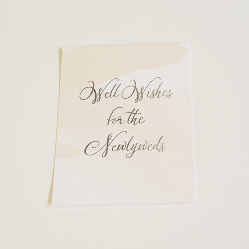 Well Wishes Sign | Silver Foil - shop greeting cards, handmade stationery, & wedding invitations by dodeline design - 1