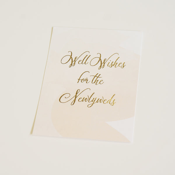 Well Wishes Sign | Gold Foil - shop greeting cards, handmade stationery, & wedding invitations by dodeline design - 1