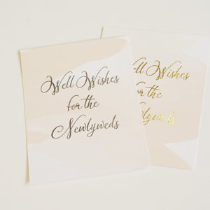 Well Wishes Sign | Silver Foil - shop greeting cards, handmade stationery, & wedding invitations by dodeline design - 2