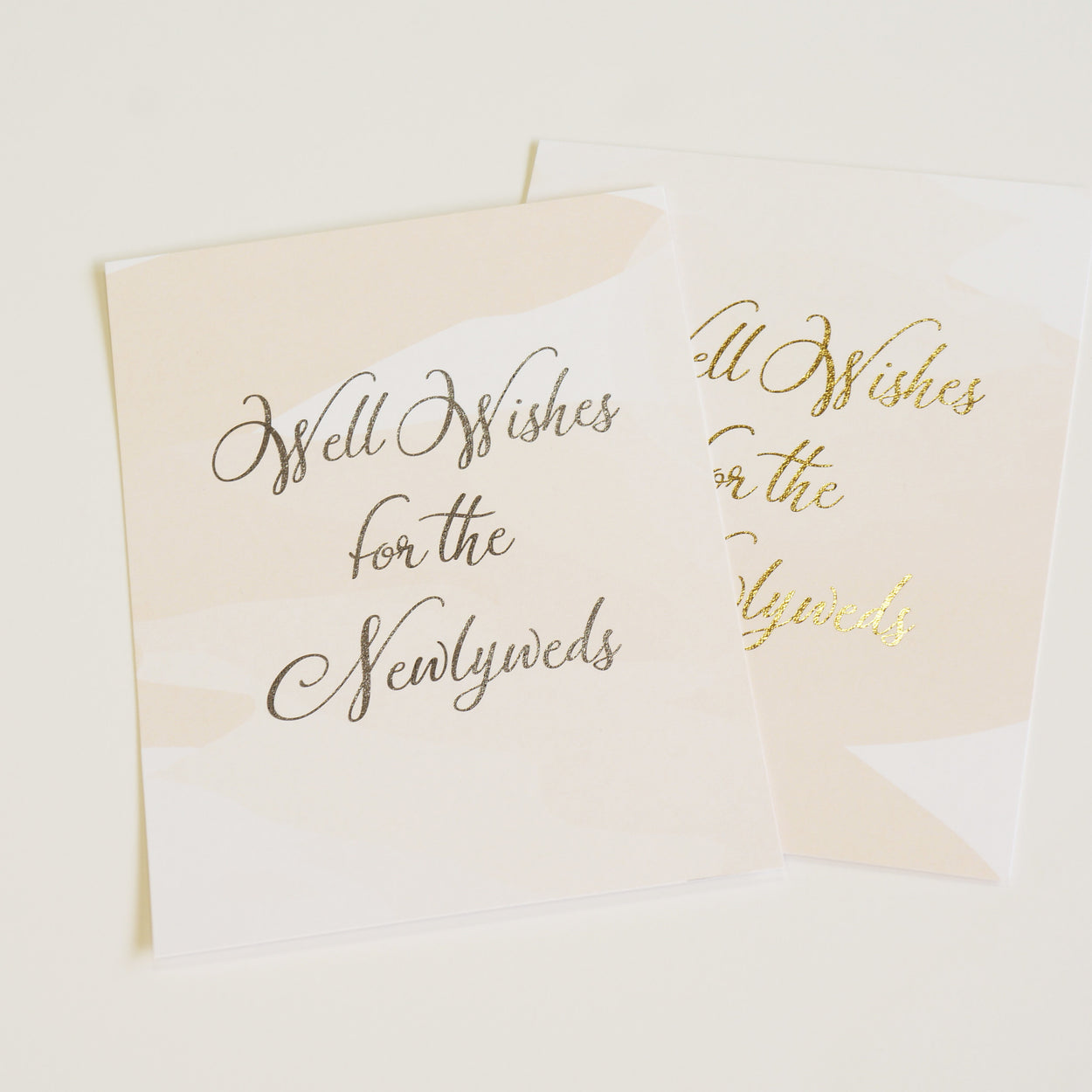 Well Wishes Sign | Gold Foil - shop greeting cards, handmade stationery, & wedding invitations by dodeline design - 2