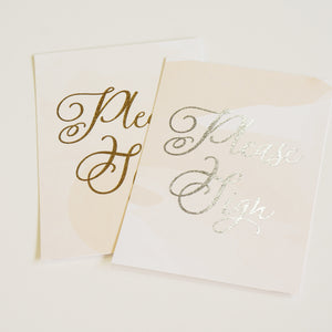 Please Sign | Wedding Sign | Gold Foil - shop greeting cards, handmade stationery, & wedding invitations by dodeline design - 2