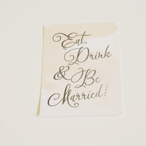 Eat Drink & Be Married Wedding Sign | Silver Foil - shop greeting cards, handmade stationery, & wedding invitations by dodeline design - 1