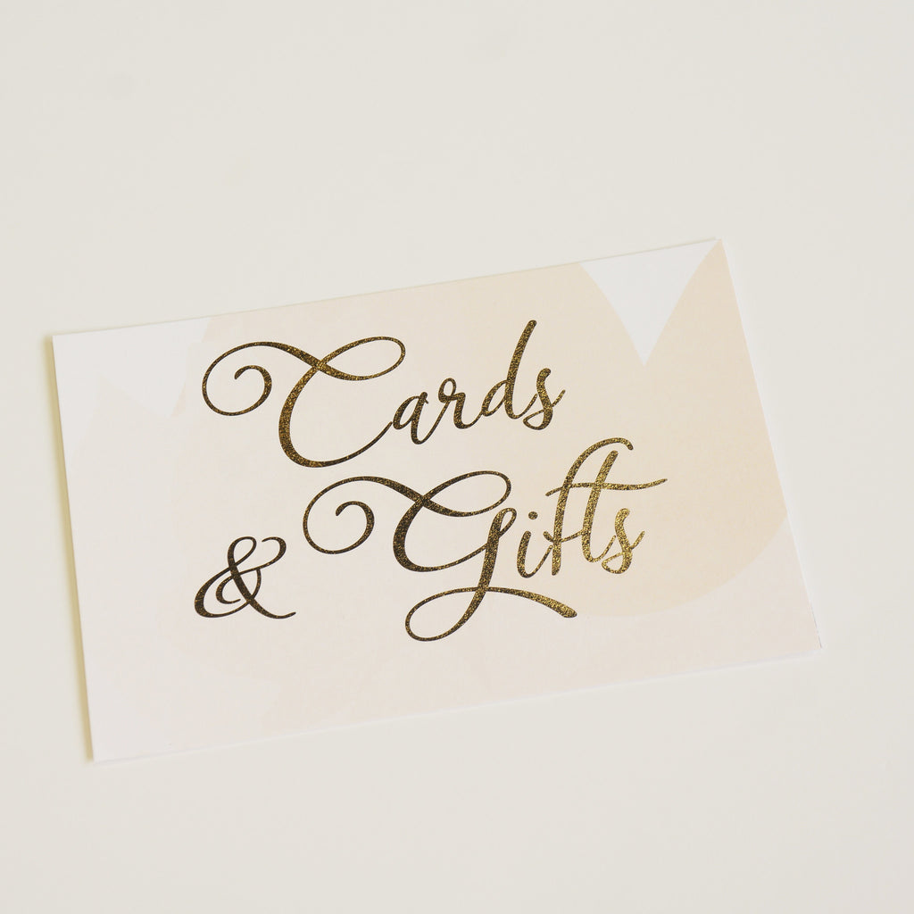 Cards & Gifts Sign | Gold Foil - shop greeting cards, handmade stationery, & wedding invitations by dodeline design - 1