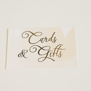 Cards & Gifts Sign | Gold Foil - shop greeting cards, handmade stationery, & wedding invitations by dodeline design - 2