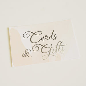 Cards & Gifts Sign | Silver Foil - shop greeting cards, handmade stationery, & wedding invitations by dodeline design - 1