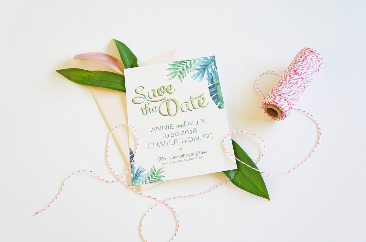 Palm | Wedding Save the Date