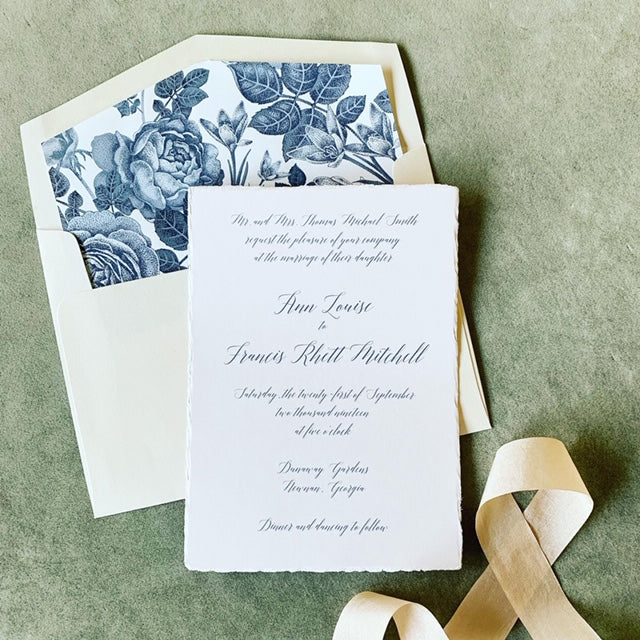 Deckle Edge | Wedding Invitation Suite