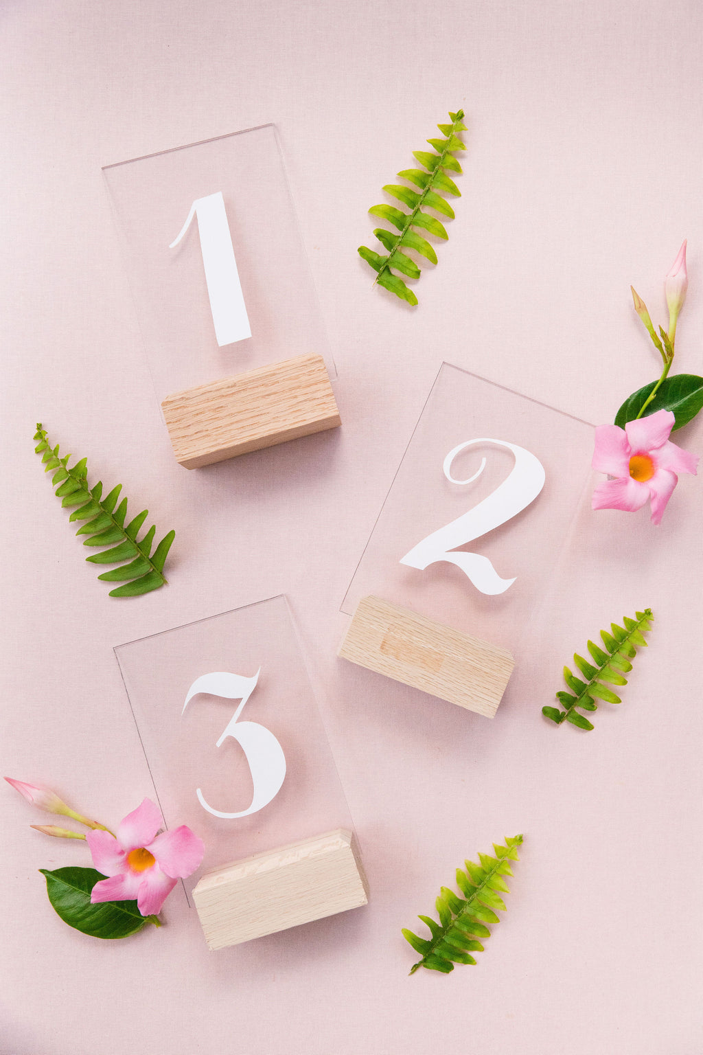 Acrylic Table Number Set {1 - 10}