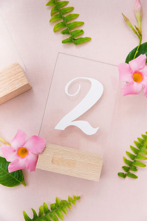 Acrylic Table Number Set {1 - 20}