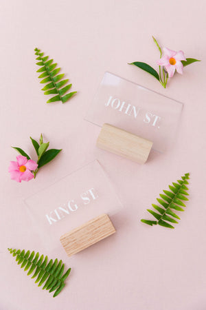 Acrylic Table Number Set {Charleston Streets}