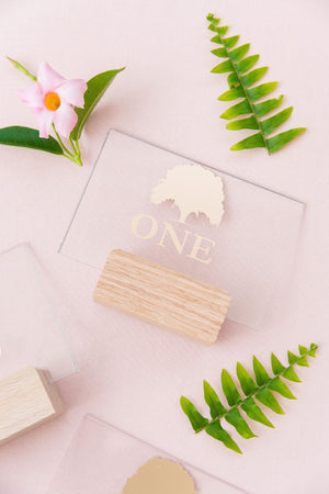 Oak Tree Acrylic Table Number Set {1 - 15}