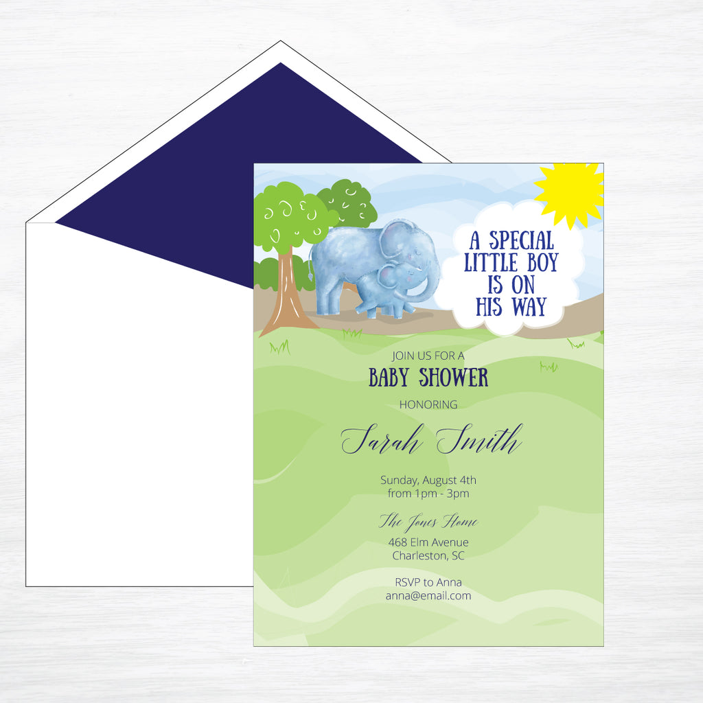 Elephants | Shower Invitation