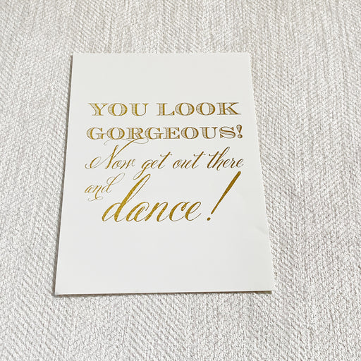 Ivory & Gold Wedding Bathroom Sign
