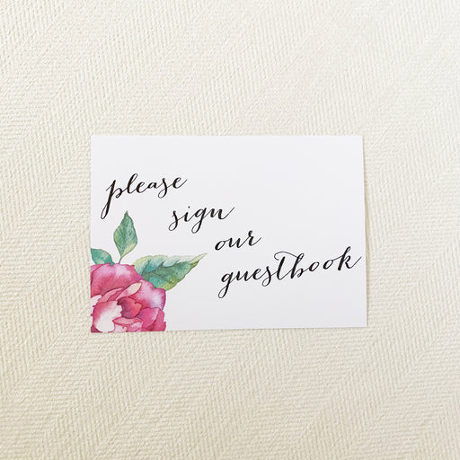 Watercolor Flower Guestbook Sign