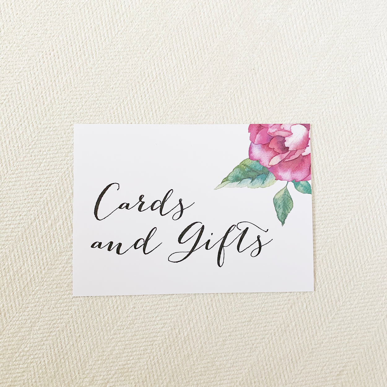 Watercolor Flower Cards & Gifts Sign