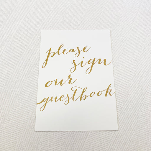 Ivory & Gold Wedding Guestbook Sign