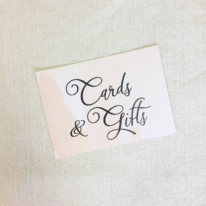 Cards & Gifts Sign | Silver Foil - shop greeting cards, handmade stationery, & wedding invitations by dodeline design - 2