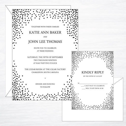 Dot | Wedding Invitation Suite - shop greeting cards, handmade stationery, & wedding invitations by dodeline design - 1