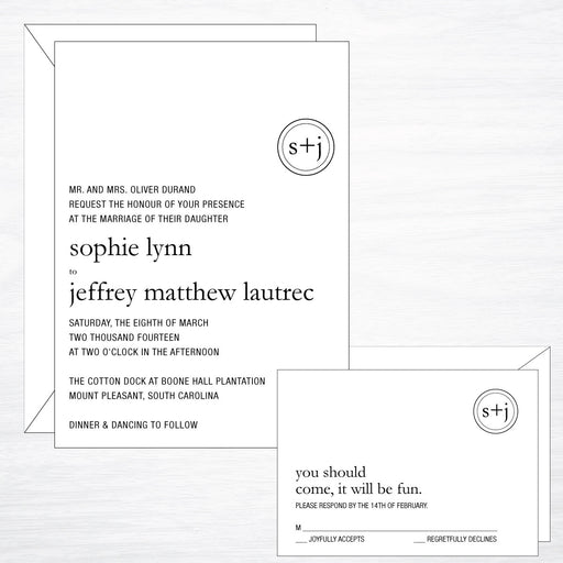 Modern | Wedding Invitation Suite - shop greeting cards, handmade stationery, & wedding invitations by dodeline design - 1