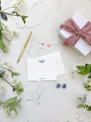 Earrings + Personalized Stationery {7}