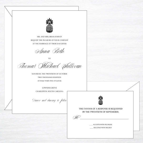 Pineapple | Wedding Invitation Suite