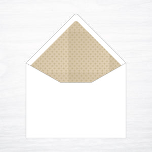 Printed Envelope Liner - shop greeting cards, handmade stationery, & wedding invitations by dodeline design - 1