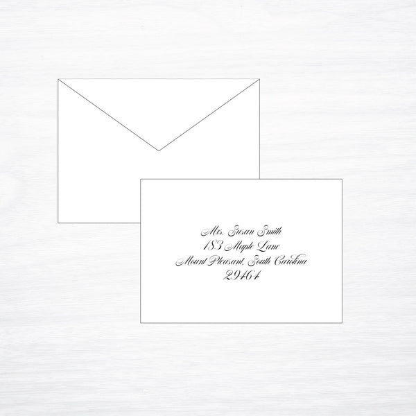 Printing Response Envelope - shop greeting cards, handmade stationery, & wedding invitations by dodeline design
