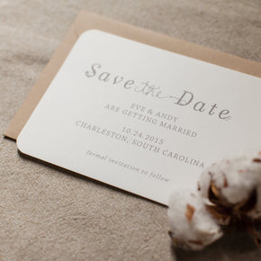 Cotton | Wedding Save the Date - shop greeting cards, handmade stationery, & wedding invitations by dodeline design - 2