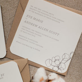 Cotton | Invitation - shop greeting cards, handmade stationery, & wedding invitations by dodeline design - 2