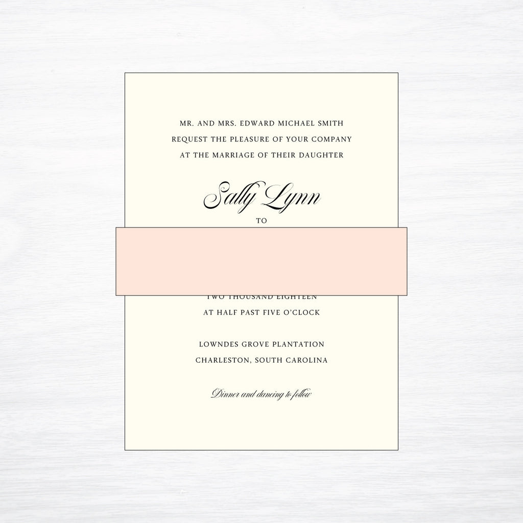Solid Belly Band - shop greeting cards, handmade stationery, & wedding invitations by dodeline design - 1