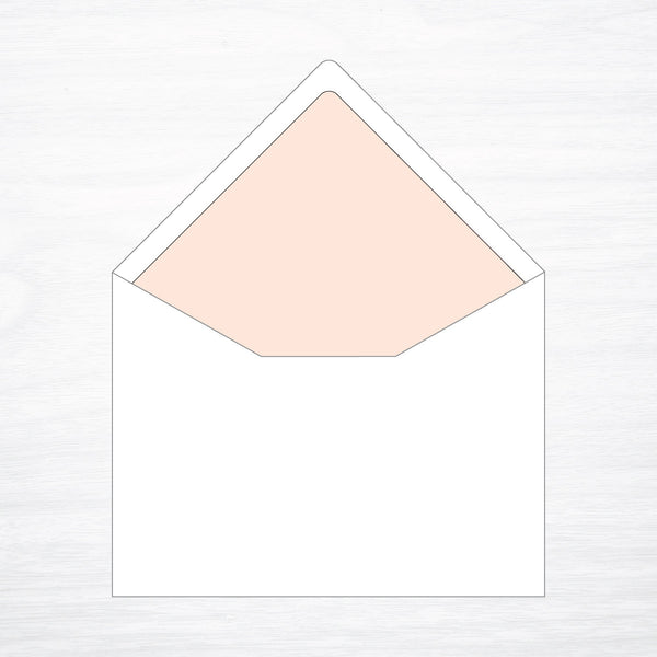 Solid Envelope Liner - shop greeting cards, handmade stationery, & wedding invitations by dodeline design - 1