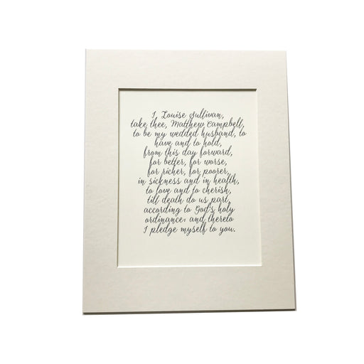 Wedding Vows Print