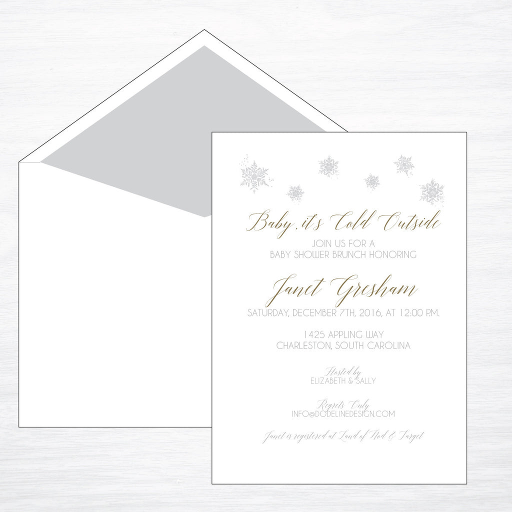 Winter Snowflake - shop greeting cards, handmade stationery, & wedding invitations by dodeline design