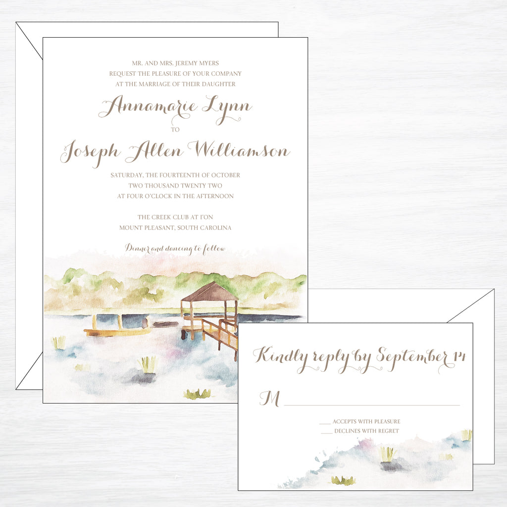 Marsh & Dock | Wedding Invitation Suite
