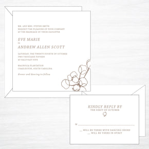 Cotton | Invitation - shop greeting cards, handmade stationery, & wedding invitations by dodeline design - 1