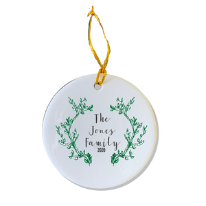 Custom Greenery Ornament