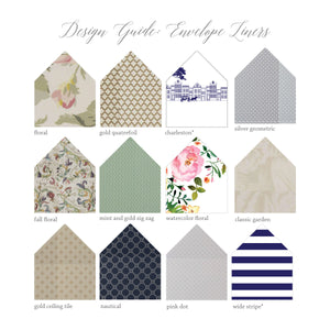 Printed Envelope Liner - shop greeting cards, handmade stationery, & wedding invitations by dodeline design - 2