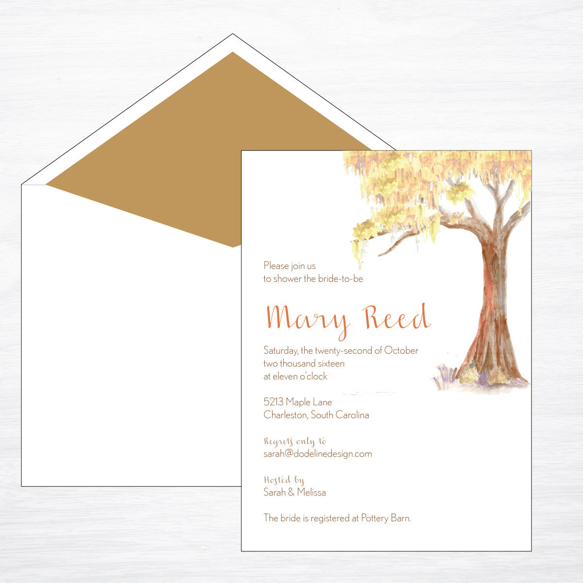 Fall Gathering - shop greeting cards, handmade stationery, & wedding invitations by dodeline design