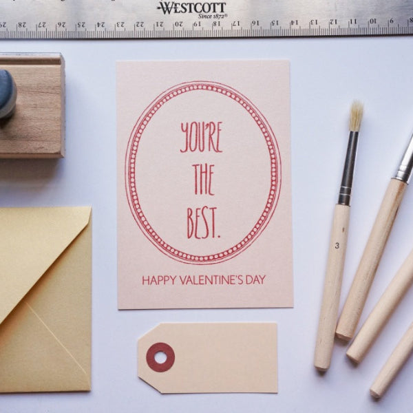 You're the Best Valentine's Card, Valentine - shop greeting cards, handmade stationery, & wedding invitations by dodeline design