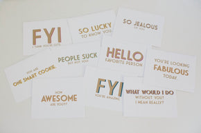 You're Looking Fabulous Today Modern Greeting Card - shop greeting cards, handmade stationery, & wedding invitations by dodeline design - 3