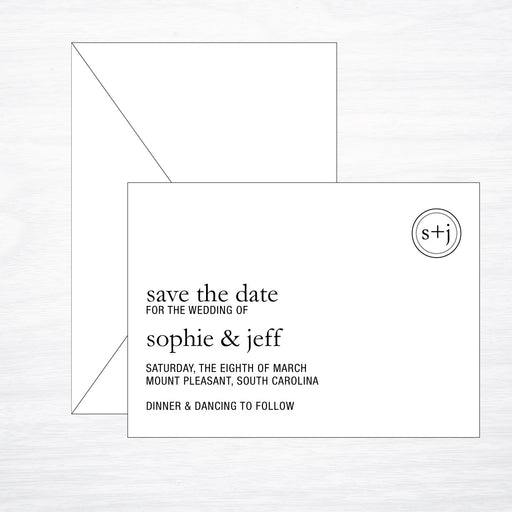 Modern | Wedding Save the Date - shop greeting cards, handmade stationery, & wedding invitations by dodeline design - 1