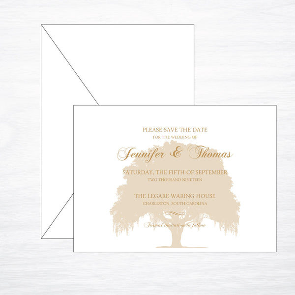 Oak | Wedding Save the Date - shop greeting cards, handmade stationery, & wedding invitations by dodeline design - 1