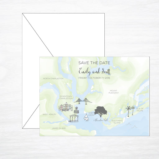 Custom Map Save the Date