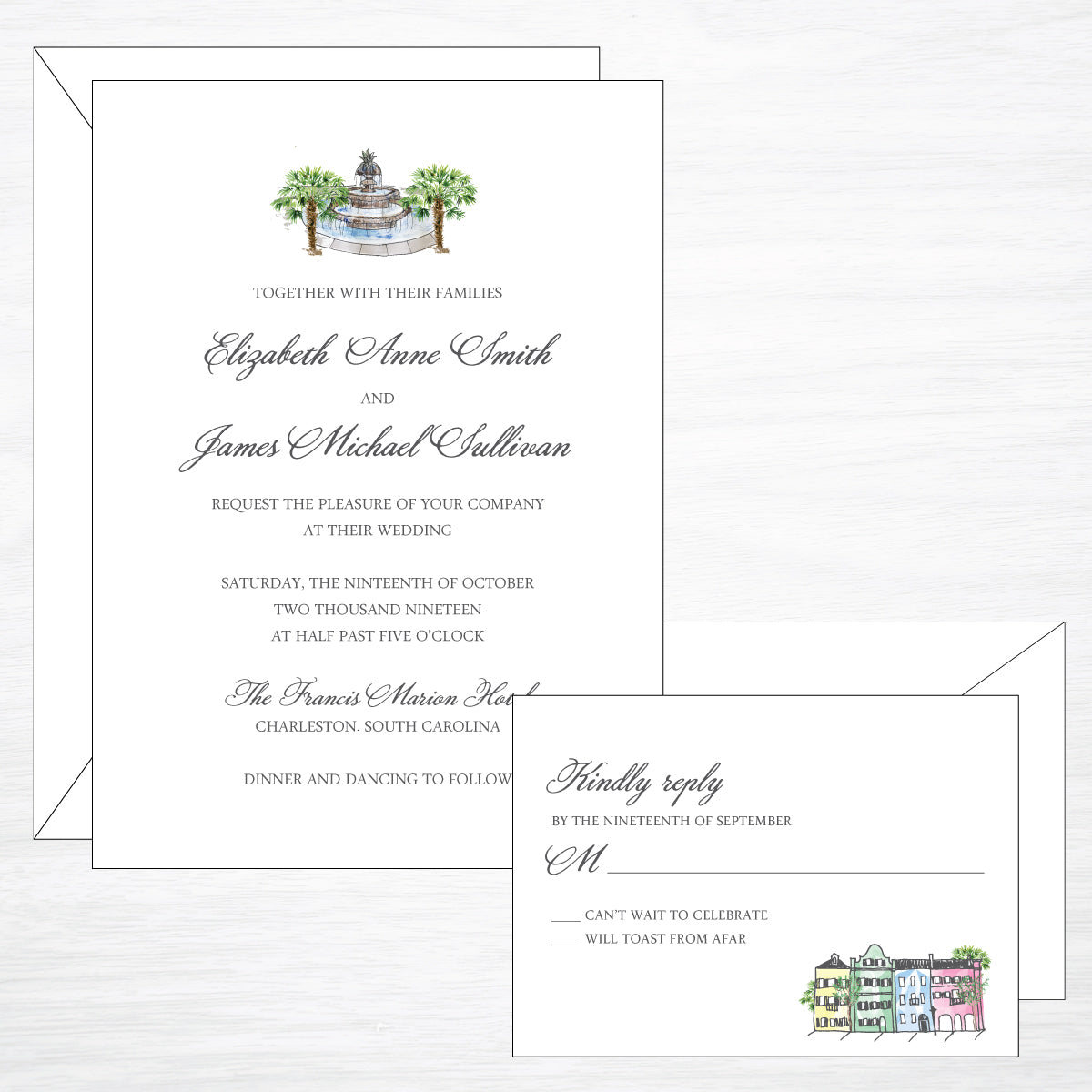 Downtown Charleston | Wedding Invitation Suite